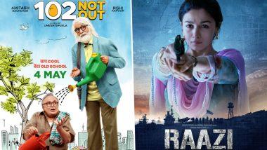 अमिताभ बच्चन की '102 नॉट आउट' को आलिया भट्ट की 'राजी' ने पछाड़ा, जानें एक हफ्ते की कमाई