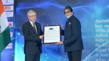 भारत, यूरोप के बीच सांस्कृतिक संबंध और प्रगाढ़ करने के लिए अमिताभ बच्चन सम्मानित