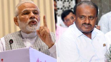 प्रधानमंत्री के बयान का CM कुमारस्वामी ने किया पलटवार, मोदी को बताया 'परसेंटेज बैकग्राउंड' वाला पीएम