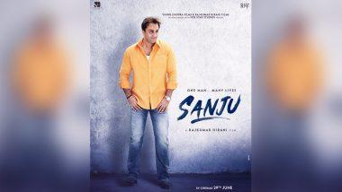 फिल्म 'संजू' का नया पोस्टर हुआ जारी, बिल्कुल 'मुन्नाभाई' लग रहे हैं रणबीर कपूर