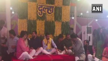 बिहार: लालू यादव के बड़े बेटे तेज प्रताप और ऐश्वर्या राय की मेहंदी की रस्में पूरी, 12 मई को होगी शादी