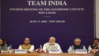 नीति आयोग की बैठक में मोदी ने कहा- आर्थिक वृद्धि दर को दो अंकों में ले जाना एक बड़ी चुनौती