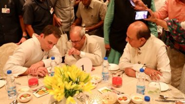 राहुल के निमंत्रण पर पहुंचे 18 में से केवल 10 दलों के नेता, अखिलेश-पवार नदारद