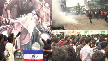 रजनीकांत के फैन्स का जुनून सिर चढ़कर बोला, कहीं जलाएं पटाखें तो कहीं दूध से किया पोस्टर का अभिषेक