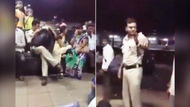 वायरल Video: रेलवे स्टेशन पर पुलिसवाले ने की महिला से छेड़खानी, तो हुई चप्पल से पिटाई