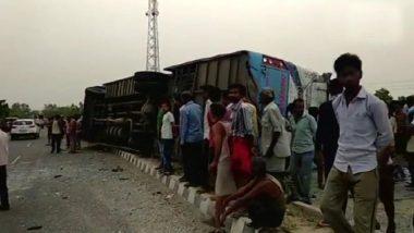 आंध्र प्रदेश में दर्दनाक सड़क हादसा, बस-एमयूवी की टक्कर में 14 की मौत, 4 घायल