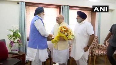 उद्धव के बाद अब प्रकाश सिंह बादल से मिले बीजेपी अध्यक्ष अमित शाह, 2019 के लोकसभा चुनाव पर हुई चर्चा