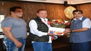 संपर्क फॉर समर्थन: सलीम खान और बॉलीवुड सुपरस्टार सलमान खान से मिले केंद्रीय मंत्री नितिन गडकरी