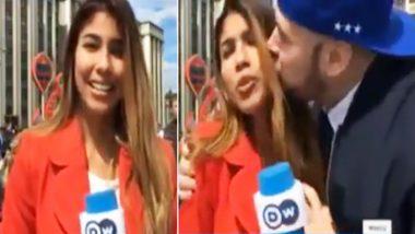 FIFA World Cup लाइव रिपोर्टिंग के दौरान महिला पत्रकार के साथ इस शख्स ने की सबसे गंदी हरकत