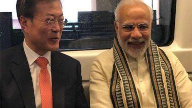 दक्षिण कोरिया के राष्ट्रपति मून जे इन और पीएम मोदी ने किया मेट्रो से सफर, देखें वीडियो