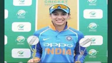 भारतीय महिला क्रिकेटर स्मृति मंधाना ने की इस 'वर्ल्ड रिकॉर्ड' की बराबरी, पारी के बाद इस स्पेशल इंसान से हुई मुलाकात..देखें तस्वीर