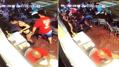 VIDEO: महिला वेटर से रेस्टोरेंट में शख्स ने की छेड़छाड़, आगे...