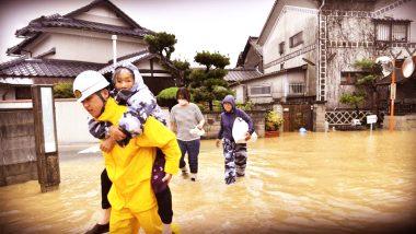 जापान में आई विनाशकारी बाढ़ में 199 लोगों की गई जान