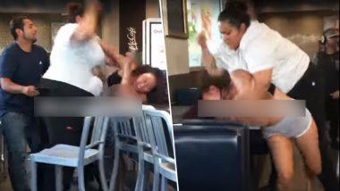 Viral Video: McDonald's में अचानक लड़ने लगी दो महिलाएं, बाल पकड़कर जड़े कई थप्पड़