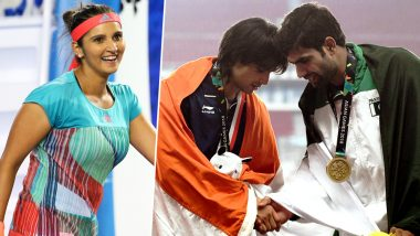 एशियाई खेल: भारत के लिए गोल्ड मेडल जीतने वाले नीरज चोपड़ा ने PAK एथलीट से मिलाया हाथ तो सानिया मिर्जा ने कहा...