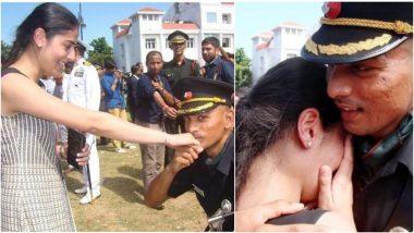 पासिंग आउट परेड सेरेमनी में घुटनों के बल बैठकर आर्मी ऑफिसर ने किया प्यार का इजहार, खुशी से रोई गर्लफ्रेंड