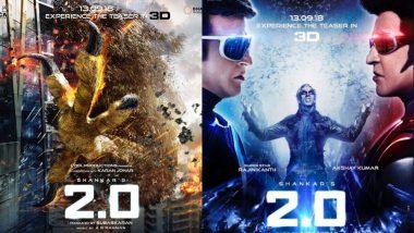 अक्षय कुमार और रजनीकांत की फिल्म '2.0' का नया पोस्टर हुआ जारी, टीज़र होगा इस दिन रिलीज