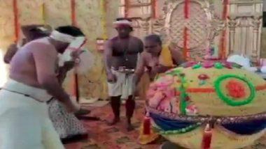 गणेशोत्सव 2018: हैदराबाद में अपने लाडले बप्पा को भक्तों ने चढ़ाया 600 किलो का लड्डू