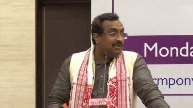 BJP महासचिव राम माधव बोले, अनुच्छेद 370 खत्म होने के बाद 200-250 लोग हैं नजरबंद, पूरे साम्मान के साथ फाइव स्टार होटलों में हैं