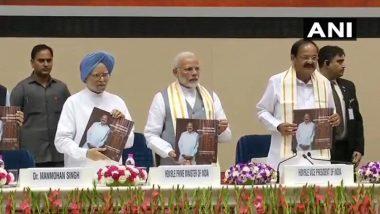 उपराष्ट्रपति नायडू की पुस्तक विमोचन, मनमोहन ने की शायरी और PM मोदी ने पढ़े कसीदे