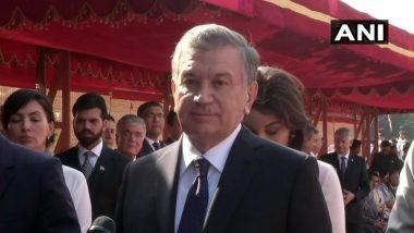 उज्बेकिस्तान के राष्ट्रपति शावकत दो दिवसीय दौरे पर भारत पहुंचे, कहा -दोनों देशों के बीच होगी अहम वार्ता