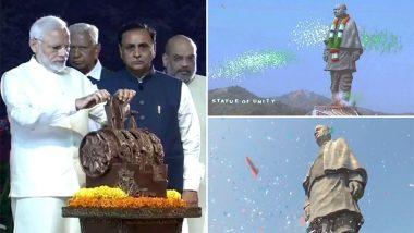 प्रधानमंत्री नरेंद्र मोदी ने 'स्टैच्यू ऑफ यूनिटी' का किया अनावरण, कहा- विराट व्यक्ति को मिला उचित स्थान