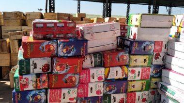 सेब की पेटियों में भरकर पाकिस्तान से लाया जा रहा था मौत का सामान, 1 गिरफ्तार