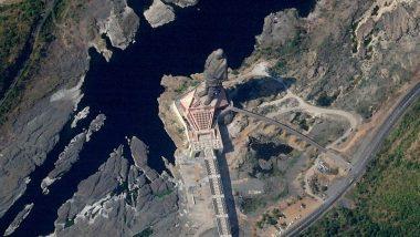 अंतरिक्ष से ऐसी दिखती है विश्व की सबसे ऊंची प्रतिमा 'स्टैच्यू ऑफ यूनिटी'