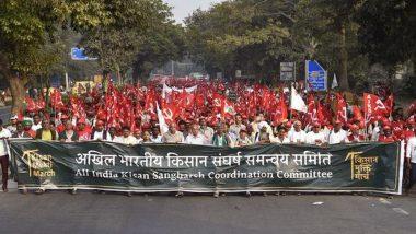 दिल्ली: किसानों का आंदोलन मार्च संसद मार्ग पहुंचा