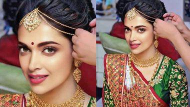 Ranveer Weds Deepika: दुल्हन की तरह सजीं दीपिका, इंटरनेट पर वायरल हुईं तस्वीर