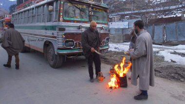 श्रीनगर: कश्मीर घाटी में ठण्ड का कहर, तापमान शुन्य से नीचे पंहुचा