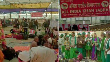 दिल्ली: किसानों ने संसद की ओर किया कुच सुरक्षा के पुख्ता इंतजाम, 3500 पुलिसकर्मी तैनात