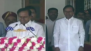 तेलंगाना: के चंद्रशेखर राव ने मुख्यमंत्री पद की ली शपथ, संभाला कार्यभार