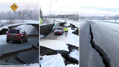 अलास्का:भूकंप के झटकों से दहला अमेरिका, सड़कें और इमारतें हुई क्षतिग्रस्त