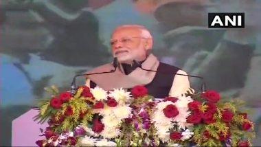 PM मोदी का कांग्रेस पर हमला, कहा-उनके नेता भाषण यहां देते हैं, तालियां पाकिस्तान में बजती हैं