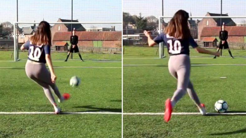 सनसनी महिला फुटबॉल फैन:  Celine Dept ने एक और मजेदार वीडियो शेयर किया Instagram पर, देखें Video