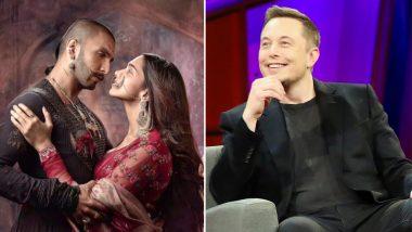 रणवीर-दीपिका की फिल्म 'बाजीराव मस्तानी' के दीवाने हुए इलॉन मस्क, किया यह खास ट्वीट