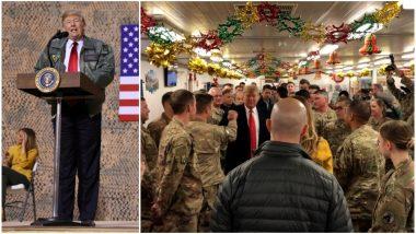 राष्ट्रपति डोनाल्ड ट्रंप ने इराक में अमेरिकी सैनिकों को क्रिसमस पर दी बधाई, बिना किसी इराकी नेता से मिले हुए रवाना