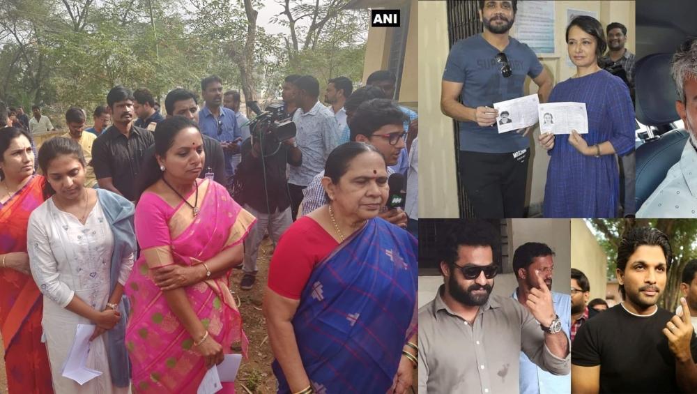 तेलंगाना विधानसभा चुनाव 2018: चिरंजीवी, नागार्जुन समेत टॉलीवुड के इन सितारों ने किया मतदान