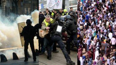 फ्रांस: Fuel Tax के विरोध में 'येलो वेस्ट' का प्रदर्शन, भीड़ पर काबू पाने के लिए पुलिस ने छोड़े आंसू गैस के गोले