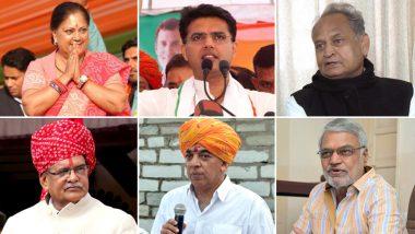 राजस्थान विधानसभा चुनाव 2018: इन 6 में से ही होगा सूबे का अगला मुख्यमंत्री