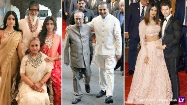 Isha Ambani-Anand Piramal Wedding: ईशा-आनंद को आशीर्वाद देने पहुंचे पूर्व राष्ट्रपति प्रणव मुखर्जी, बच्चन परिवार भी आया नजर