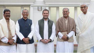 छत्तीसगढ़: राहुल गांधी के घर बैठक खत्म, रविवार को 12 बजे विधायक दल की बैठक में होगा CM का ऐलान