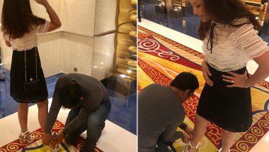 फिर दिखा महेंद्र सिंह धोनी का प्यार भरा अंदाज, पत्नी साक्षी के कहने पर पहनाई सैंडल