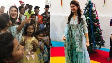जैकलीन फर्नांडिस ने अनाथ बच्चों के साथ मनाया क्रिसमस का त्योहार, देखें तस्वीरें