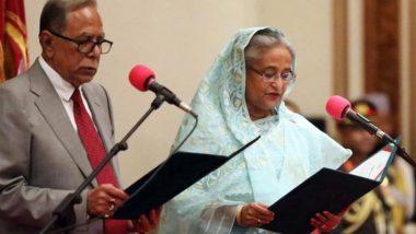 अवामी लीग की प्रमुख शेख हसीना ने चौथी बार ली बांग्लादेश के प्रधानमंत्री पद की शपथ
