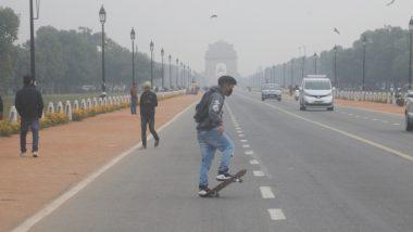दिल्ली:  रविवार की सुबह सर्द और धुंधभरी, वायु गुणवत्ता का स्तर 'खराब' होने से सोमवार को बारिश के आसार