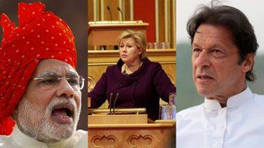 नॉर्वे की प्रधानमंत्री एर्ना सोलबर्ग ने बताया कश्मीर मसले का सलूशन