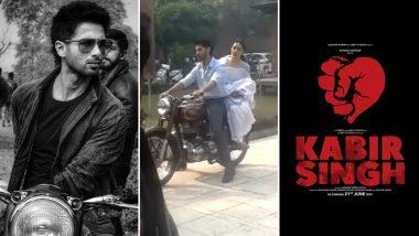 शाहिद कपूर की फिल्म 'कबीर सिंह' का एक और सीन हुआ लीक, कियारा आडवाणी को करा रहे हैं बाइक की सवारी