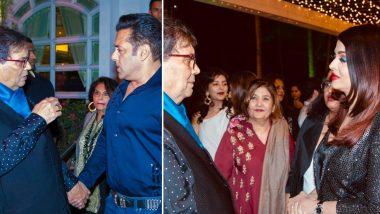 सुभाष घई की बर्थडे पार्टी में फिर एक बार आमने सामने आए सलमान खान और ऐश्वर्या राय बच्चन